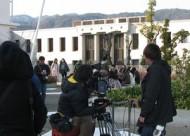 映画「阪急電車」の撮影 IN 大手前大学(さくら夙川キャンパス)