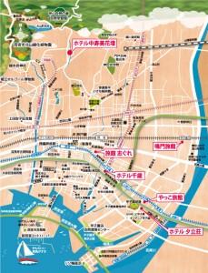 西宮観光旅館協同組合 旅館マップ
