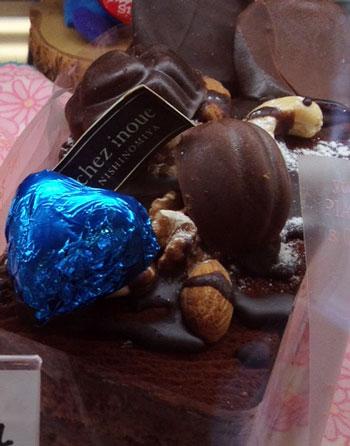 西北洋菓子工房シェ・イノウエさんのチョコケーキ