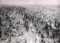 昔は海水浴場としてにぎわった甲子園浜