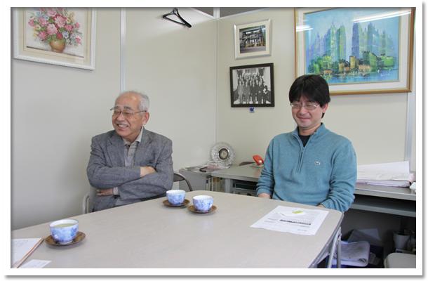 会長の浦山基郎さんと社長の大介さん