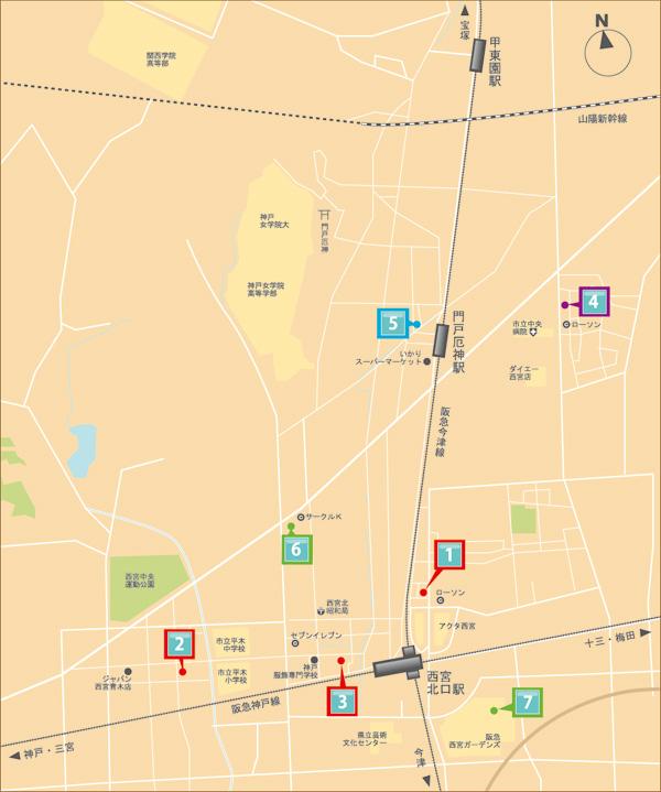 西宮北口 shopmap