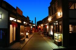 ミニチュアの昭和の町並み
