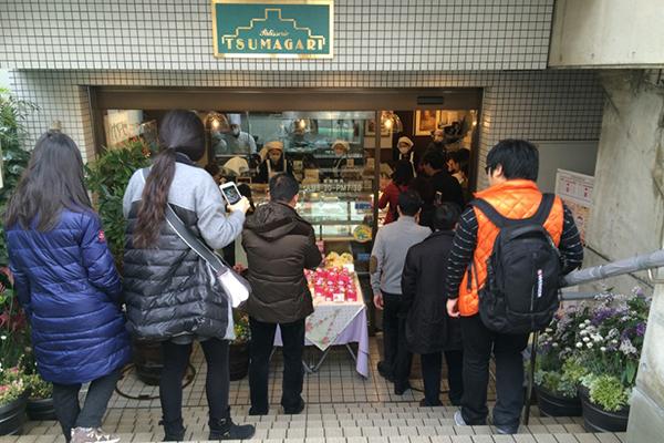 ケーキハウスツマガリ中国人観光客
