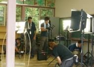 朝日放送の「人生の教科書」の撮影 IN 旧船坂小学校