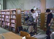 朝日放送「ココイロ」の撮影 IN 市立中央図書館