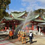 文化財防火デーの消防訓練