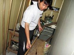 トンボの修理台は藤本さんの時代のもの