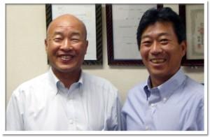 株式会社ライト建設 岡本社長(左)と井上技術次長(右)