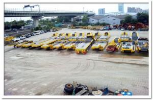 大阪府泉大津市にある、車輛基地。 5000坪と広大。