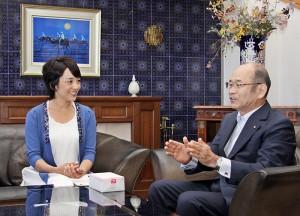 西宮の観光大使・西田ひかるさんと河野市長