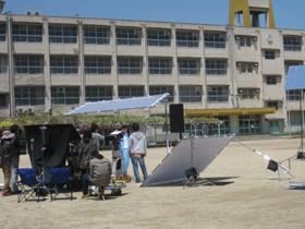 某金融機関のテレビCM 廃校となった高須東小学校『水・筒・教・師』