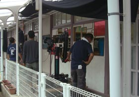 船坂小学校で朝日放送の「人生の教科書」という番組が撮影されました。