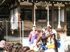 百太夫神社祭で奉納されたえびす舞の様子