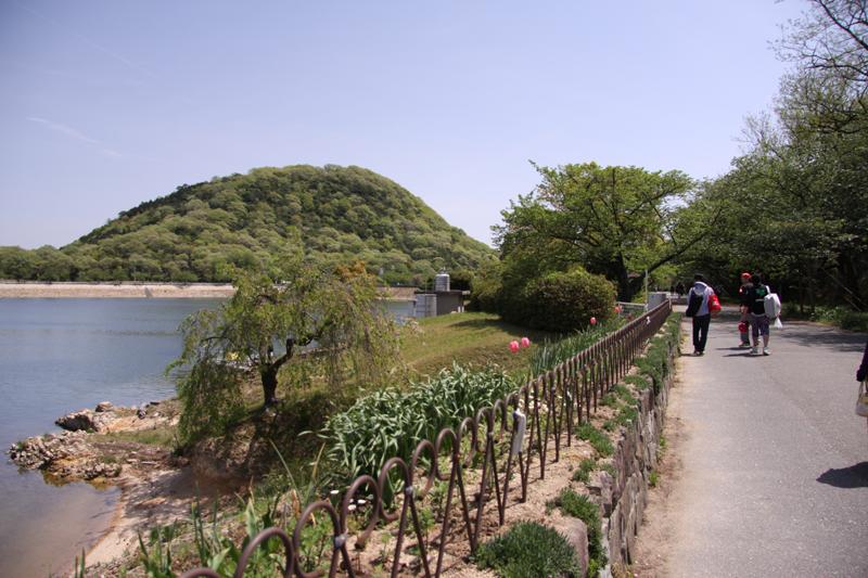 北山ダム 新緑甲山