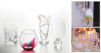 甲山ガラス工房 グラス、風鈴、花器、皿