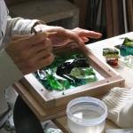 三浦啓子さんとグラスプレート作り
