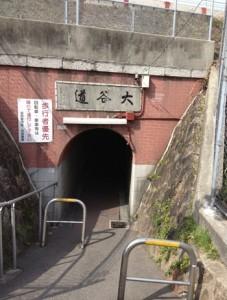 大谷町と郷免町を結ぶまんぼうトンネル「大谷道」
