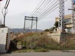 現在も大谷町に残る枝線の廃線跡