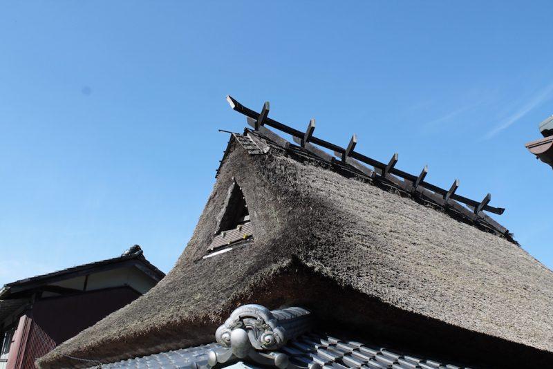 船坂 茅葺屋根