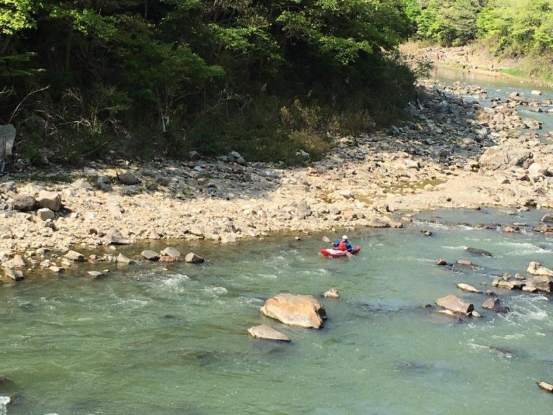 カヌーを楽しむ方にであうことも。