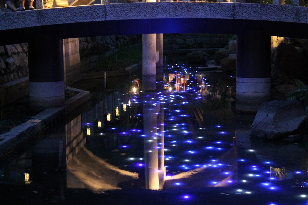 西宮神社 万灯篭神池の天の川