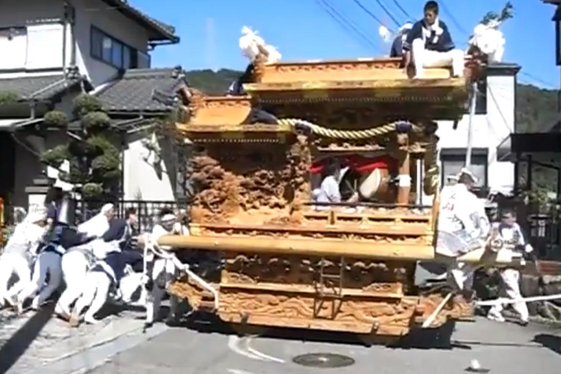生瀬皇太神社 秋祭りのだんじり