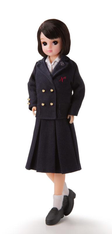 市立西宮の制服を着たオリジナル制服リカちゃん