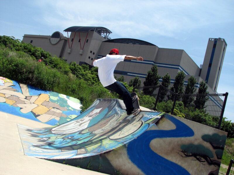 西宮浜 スケートボード